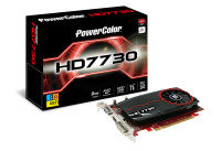 PowerColor HD 7730 2GB DDR3 VGA DVI HDMI PCI-E Graphics Card