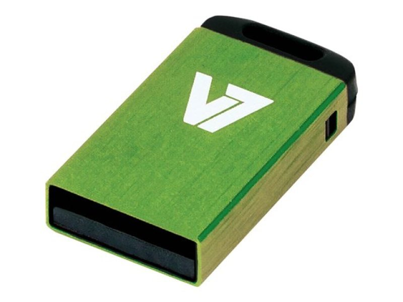 V7 8GB USB 2.0 Nano Flash Drive (Green)