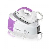 Swan 2400w Steam Generator Iron - White/Pink