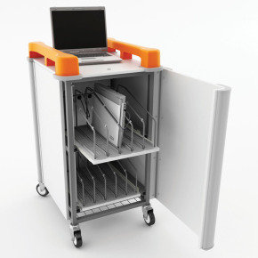 LapCabby LAP10V 10 Port Laptop Trolley Vertical Storage