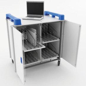 LapCabby LAP16V 16 Port Laptop Trolley