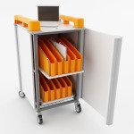 LapCabby LAPM20V Mini 20 Port Mini Laptop Charger Trolley Vertical Storage