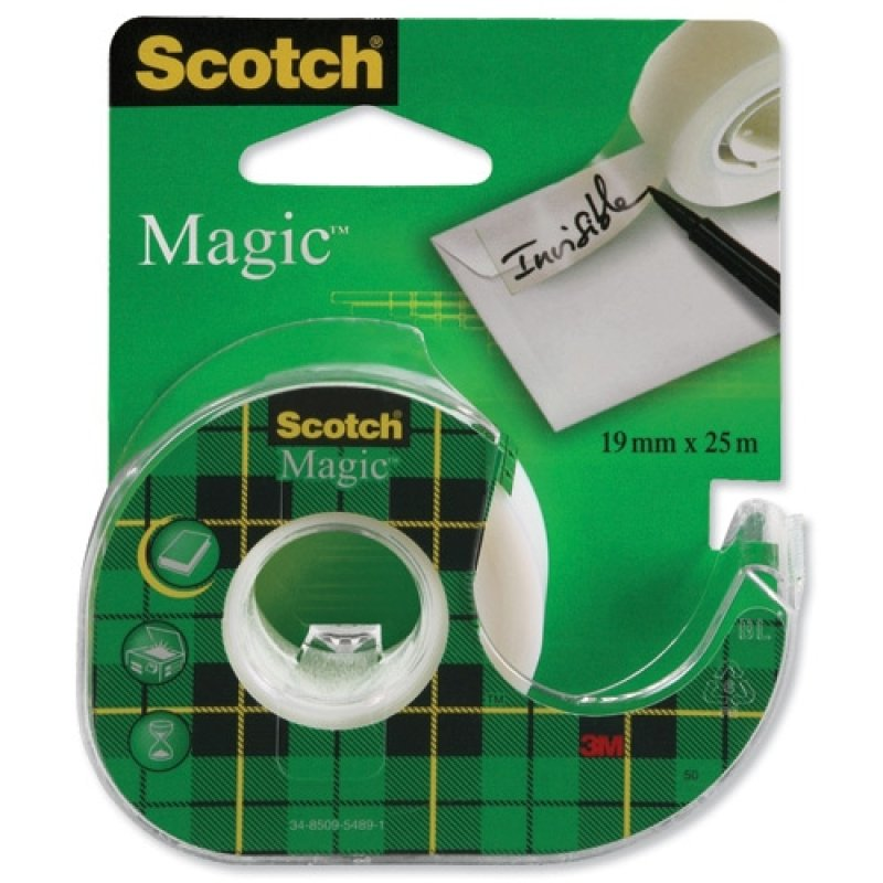 Scotch Magic Tape 19mm x 25m on Dispenser 8-1925D pk 12