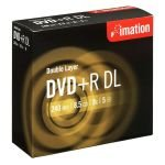 Imation 8x DVD+R DL Discs - 5 Pack Jewel Case