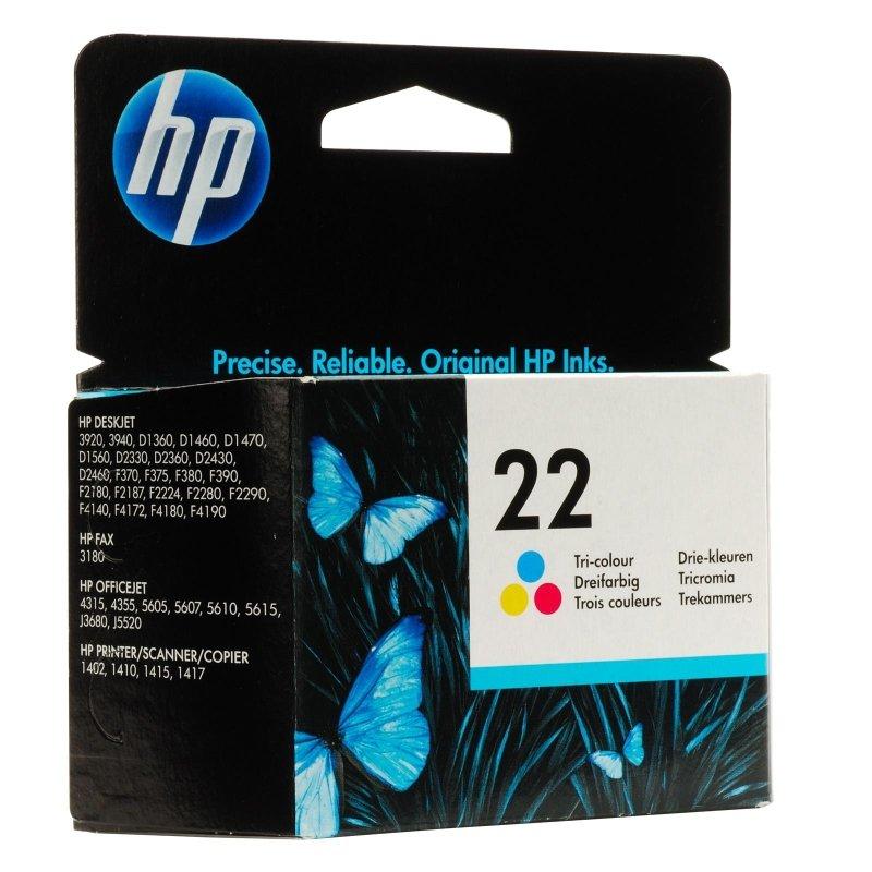 Image of Hewlett-packard 22 Inkjet Print Cartridge -cyan/magenta/yellow