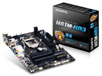 Gigabyte GA-H81M-HD3 Socket 1150 DVI HDMI 7.1 channel Audio Micro ATX Motherboard