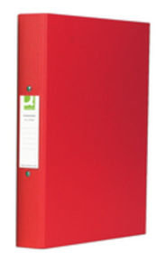 Q Connect A4 2 Ring Binder Pp Red - 10 Pack