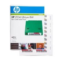 HP LTO-4 Ultrium 4 RW Bar Code Label Pack