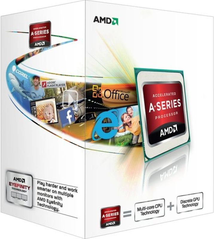 Image of AMD A4 5300 3.4GHz Socket FM2 1MB L2 Cache Retail Boxed Processor