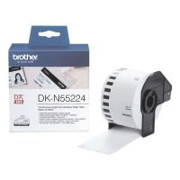 Brother DKN55224 Paper tape- Black on White