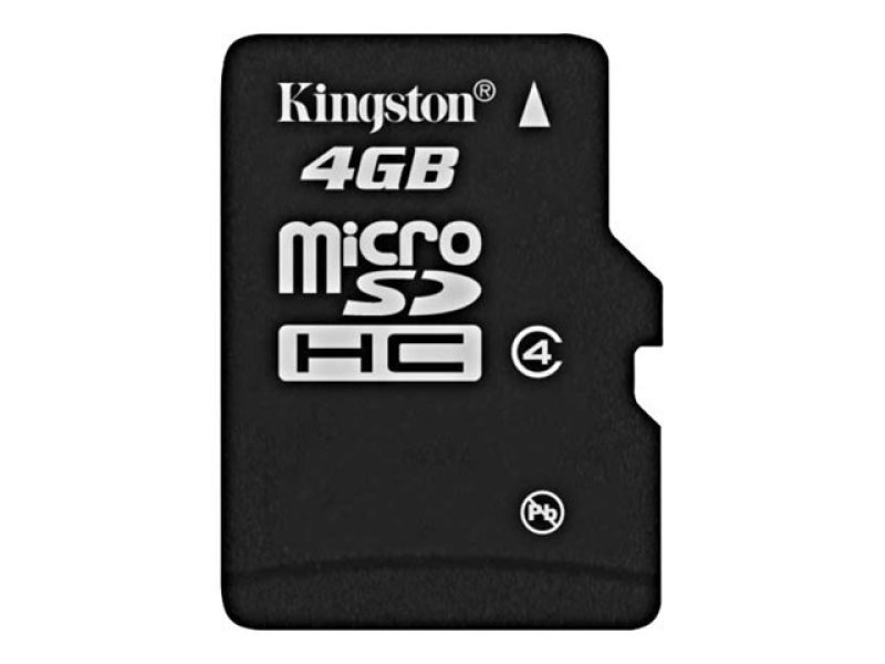 Kingston 4GB Class 4 MicroSDHC Card - With Adapter