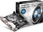 AsRock H81M-ITX Socket 1150 DVI HDMI  7.1 Channel HD Audio Mini-ITX Motherboard