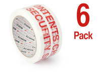 Ebuyer White/ Red Security Tape - 6 Rolls
