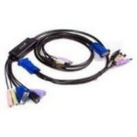 Startech 2 Port Kvm Switch With Audio In - Integrated USB & VGA Cables Uk