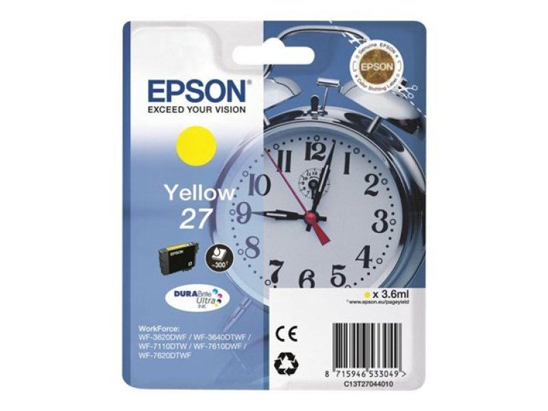 Epson 27 Durabrite Ultra Inkjet Cartridge - Yellow
