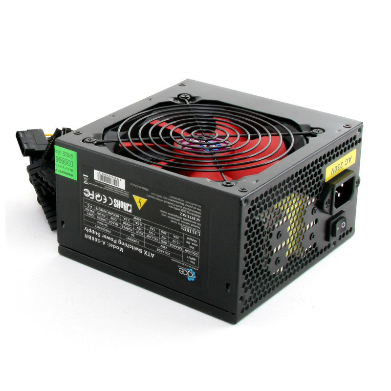 Image of Ace Black 120mm Fan 550W Fully Wired Efficient Power Supply