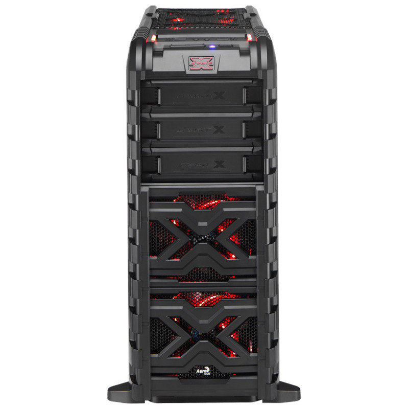 Aerocool Strike-X GT Black Mid-Tower Gaming Case USB3 Toolless Red LED Fans