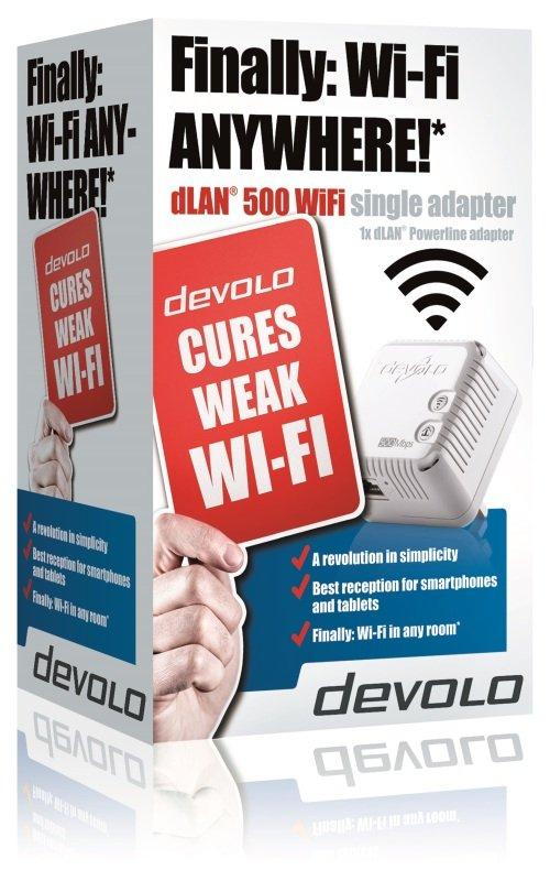 Image of Devolo dLAN 500 - Wifi Single Powerline Extender Kit