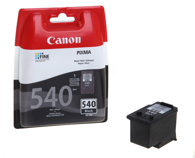 canon pg 540 black ink cartridge ebuyer. Black Bedroom Furniture Sets. Home Design Ideas