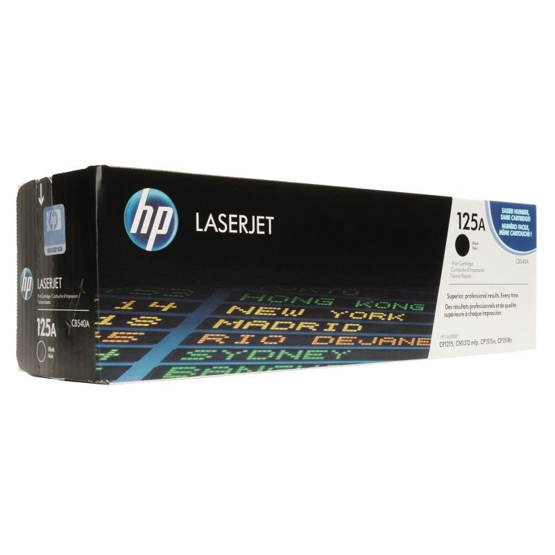 HP 125A Black Toner Cartridge - CB540A