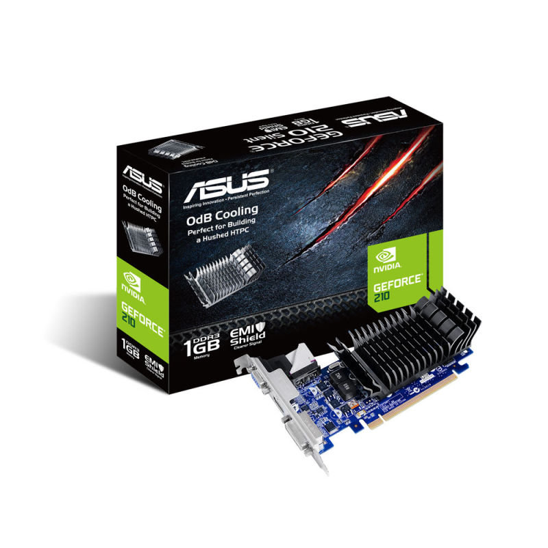 Asus GeForce G210 Silent 1GB DDR3 VGA DVI HDMI PCI-E Graphics Card