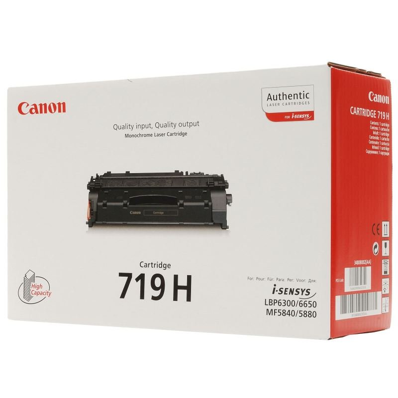 *Canon CRG-719H High Yield Black Toner Cartridge