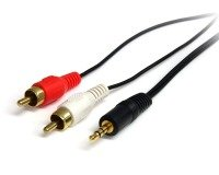 Startech PC To Stereo Cable M/M - Mini To 2 RCA 6ft / 1.8m