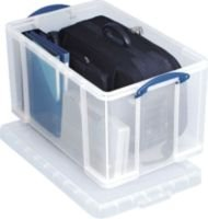 Really Useful 84 Litre Plastic Storage Box with Lid - 380x440x710mm