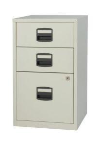 Bisley A4 Home Filer 3 Drawer Lockable Grey