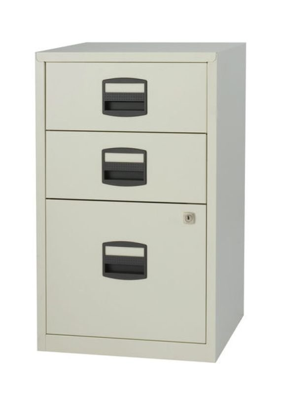 Bisley A4 Home Filer 3 Drawer Lockable Grey