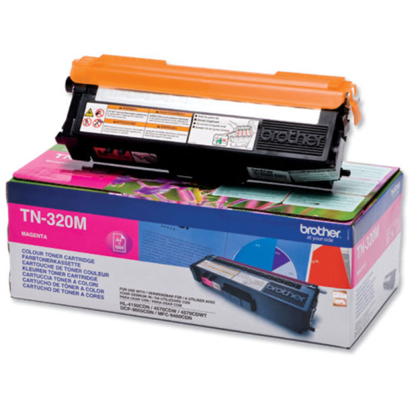 Brother TN-320M Magenta Toner Cartridge - 1,500 Pages