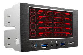 Aerocool Touch 2100 LCD Touch Screen 5 Fan Controller 2 x USB3.0
