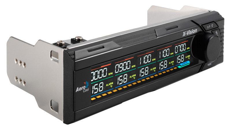 Aerocool XVision LCD 3.5&quot Fan Controller 5 Fan Control