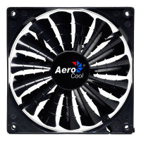 Aerocool Shark 12cm Black Fan 15 Blade Fluid Dynamic Bearing Power/Silence Modes
