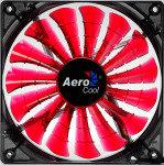 Aerocool Shark 12cm Quad Red LED Fan 15 Blade Fluid Dynamic Bearing 12.6dBA