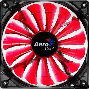Aerocool Shark 12cm Quad Red LED Fan 15 Blade Fluid Dynamic Bearing 12.6dBA