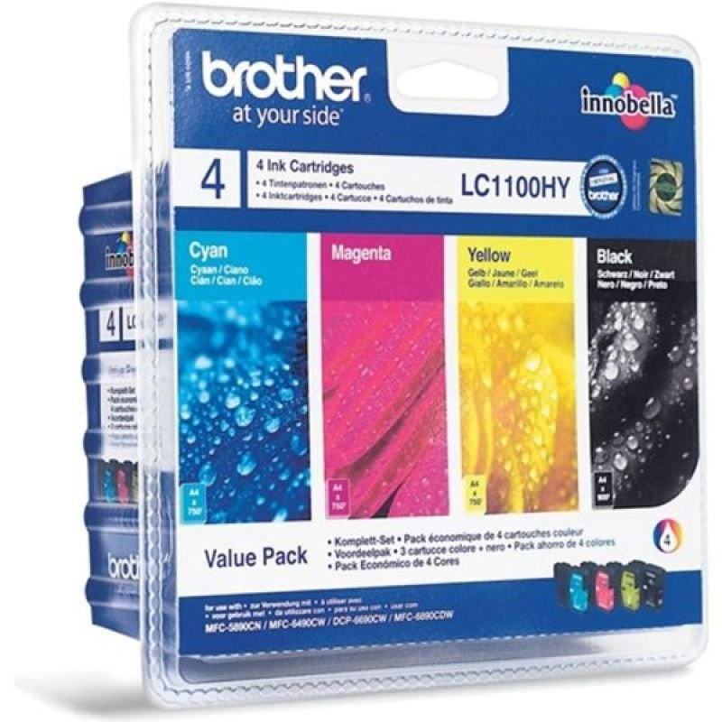 Brother LC1100 Colour Value Pack