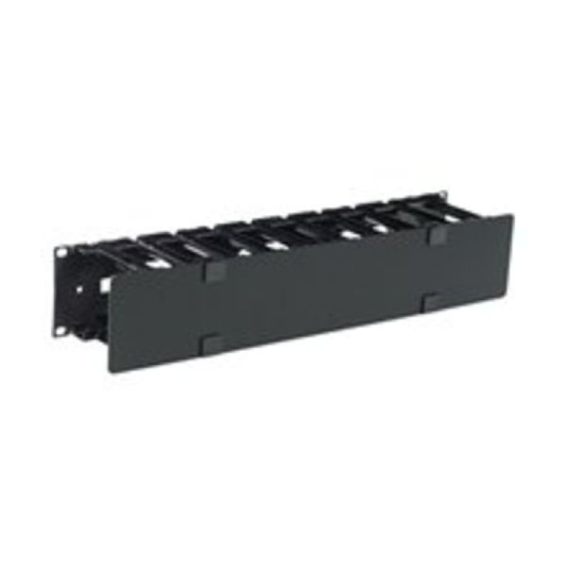 APC Rack cable management panel (horizontal) with cover black 2U