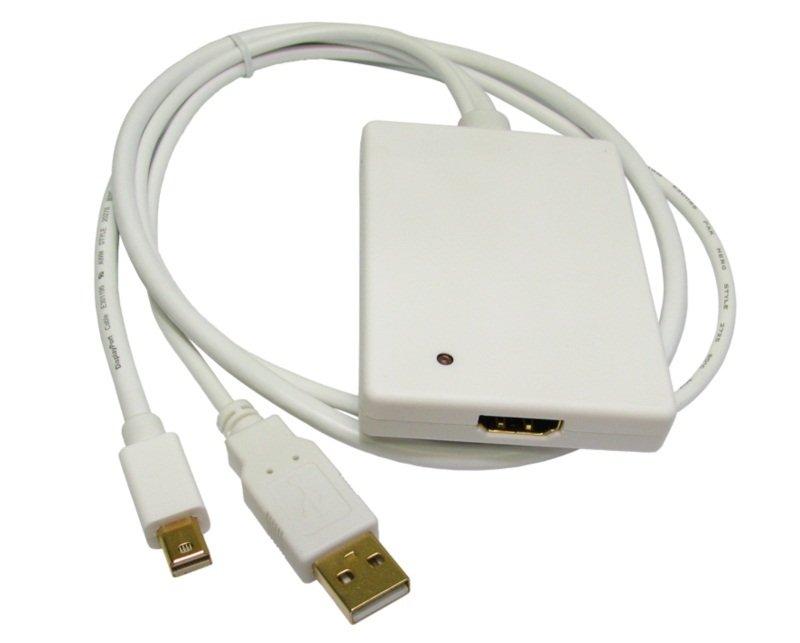 Image of Cables Direct NewLink Video / audio adaptor - DisplayPort / HDMI / USB - 4 PIN USB Type A mini-DisplayPort (M) - 19 pin HDMI (F)