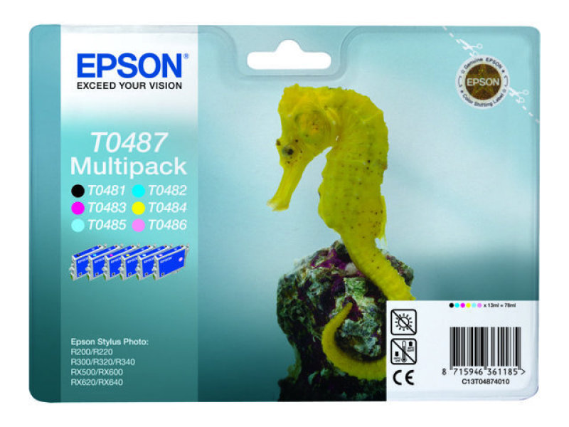 Epson Multipack T0487 Colour Ink Cartridge