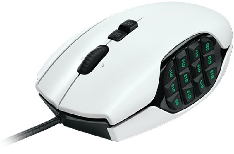 Logitech G600 MMO Gaming Mouse  White