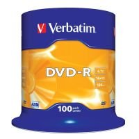 Verbatim 16x DVD-R Discs - 100 Pack Spindle