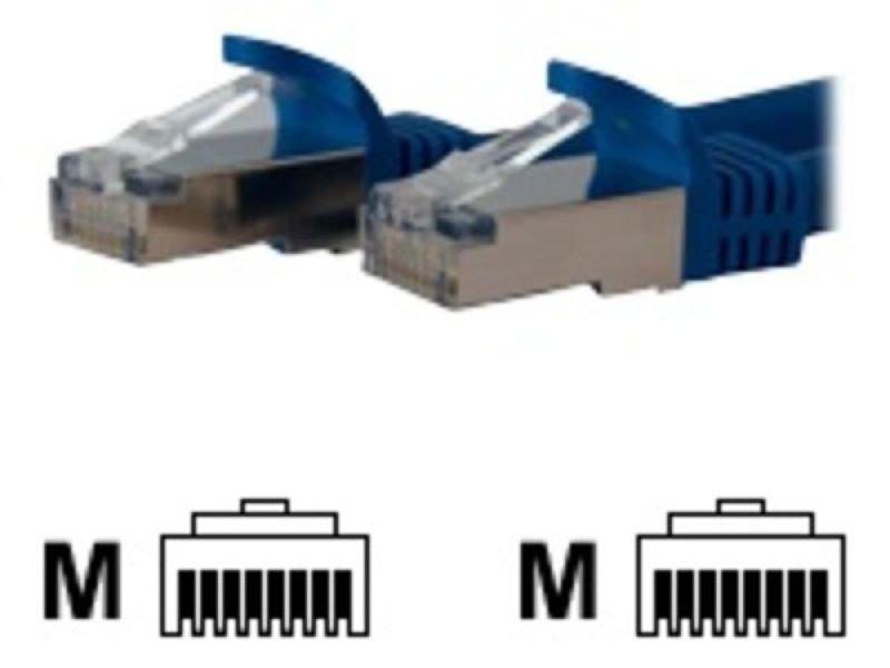StarTech.com Shielded Cat6a Molded STP Patch Cable 0.3m Blue