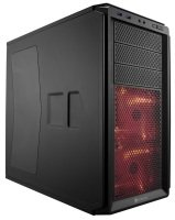 Corsair Graphite Series 230T Compact Mid Tower Case Black on Black with RED LED fans