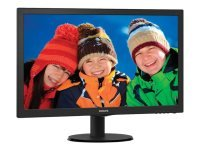 "Philips 243V5LSB 24"" LED VGA DVI Monitor"