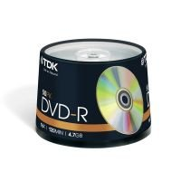 TDK 16x DVD-R Discs - 50 Pack Spindle