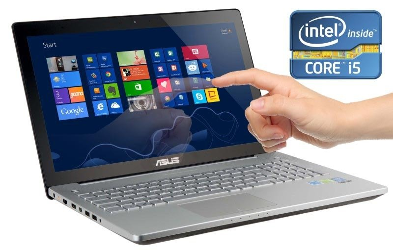 Asus N550LF Touch Laptop Intel Core i54200U 1.6GHz 6GB RAM 500GB HDD 15.6&quot TFT DVDRW GT745M Webcam Bluetooth Windows 8 64bit