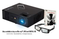 Viewsonic PJD7820HD 3000 Lumens Full 1080p 3D Projector - The Wolverine Bundle