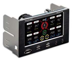 Aerocool Touch 2000 LCD Touch Screen 4 Fan Controller E-Sata/USB 2 x 5.25