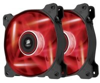 Corsair AF120 LED Red Quiet Edition High Airflow 120mm Fan Twin Pack